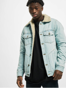 Urban Classics Denim Jacket Sherpa Lined Denim blue
