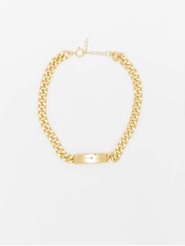 Urban Classics Diverse Plate Necklace guld