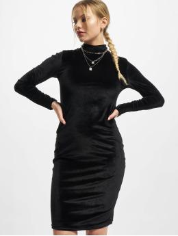 Urban Classics Dress Ladies Velvet Turtle Neck  black
