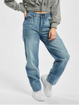 Urban Classics Dżinsy straight fit Ladies High Waist niebieski