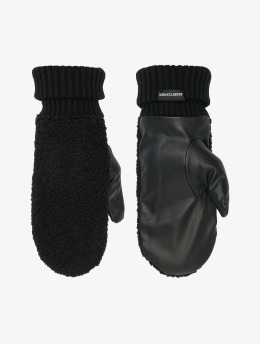Urban Classics Gants Sherpa Imitation Leather noir