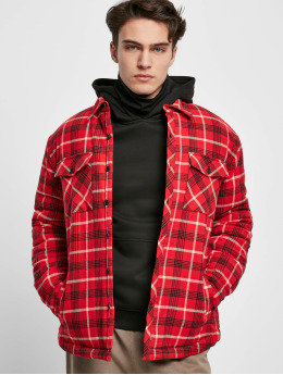 Urban Classics Giacca Mezza Stagione Plaid Quilted Shirt  rosso