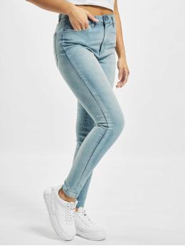 Urban Classics Høy midje Jeans Skinny High Waist  blå