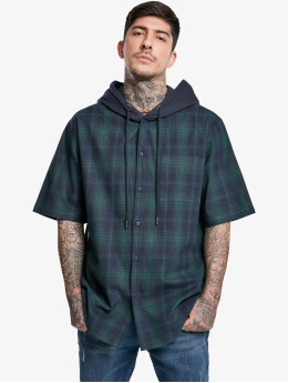 Urban Classics Hemd Hooded Short Sleeve  blau
