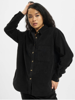 Urban Classics Hemd Ladies Corduroy Oversized schwarz