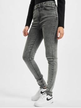 Urban Classics High Waisted Jeans Ladies High Waist Skinny zwart