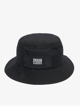 Urban Classics hoed Canvas Logo zwart