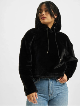 Urban Classics Hoodie Oversize Short Teddy svart