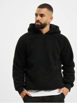 Urban Classics Hoodie Sherpa svart
