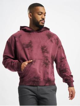 Urban Classics Hoodies Tye Dyed červený