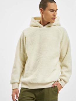 Urban Classics Hoodies Sherpa bílý