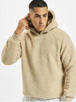 Urban Classics Hoodies Sherpa hnědý
