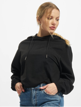 Urban Classics Hoody Ladies Heavy Short zwart