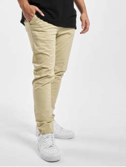 Urban Classics Jogging kalhoty Tapered Cotton béžový