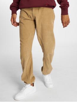 Urban Classics Jogging kalhoty Corduroy hnědý