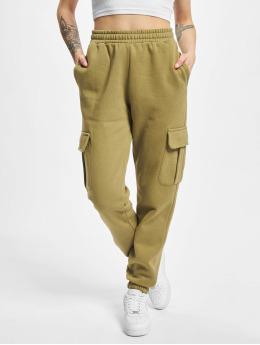 Urban Classics Jogging kalhoty Ladies High Waist Cargo  olivový