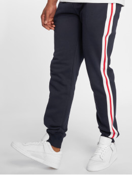 Urban Classics joggingbroek 3-Tone Side Stripe Terry blauw