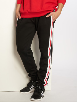 Urban Classics joggingbroek 3-Tone Side Stripe Terry zwart