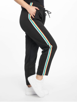 Urban Classics joggingbroek Multicolor Side Taped  zwart