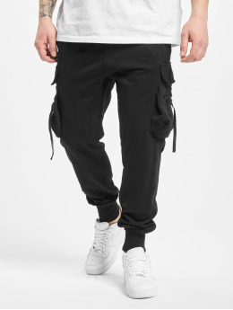 Urban Classics joggingbroek Tactical  zwart