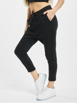 Urban Classics Jogginghose Open Edge Terry Turn Up schwarz