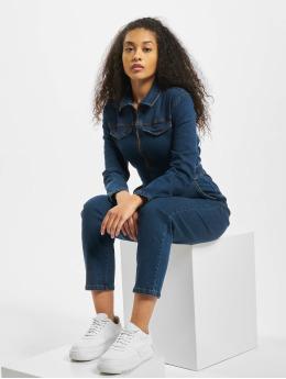 Urban Classics jumpsuit Ladies Boiler blauw