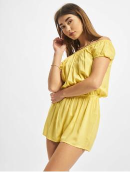 Urban Classics jumpsuit Off Shoulder geel
