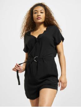 Urban Classics Jumpsuit Ladies Short Viscose Belt nero