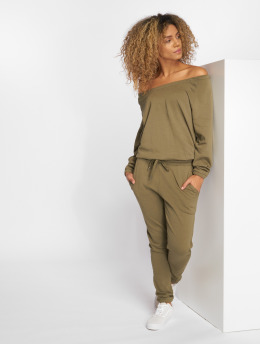 Urban Classics Jumpsuit Terry olive