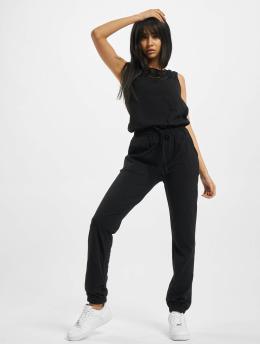 Urban Classics jumpsuit Ladies Lace Block zwart