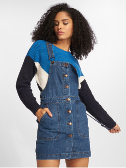 Urban Classics jurk Denim Dungarees blauw