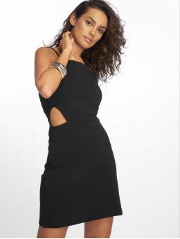 Urban Classics jurk Short Spaghetti Pique zwart