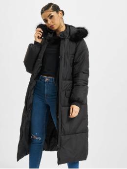 Urban Classics Kabáty Oversize Faux Fur èierna