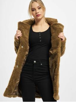 Urban Classics Kabáty Ladies Oversized Sherpa  hnedá
