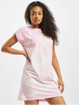 Urban Classics Kleid Tie Dye  rosa