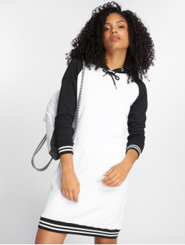 Urban Classics Kleid Contrast College Hooded weiß