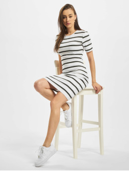 Urban Classics Kleid Stretch Stripe weiß