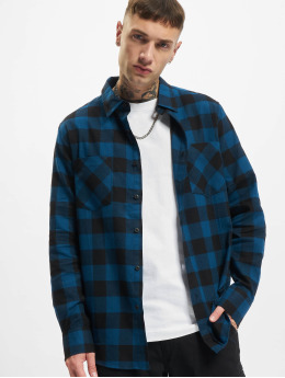 Urban Classics Košile Checked Flanell modrý