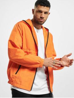 Urban Classics Kurtki przejściowe Full Zip Nylon Crepe pomaranczowy