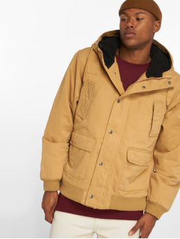 Urban Classics Kurtki zimowe Hooded Cotton brazowy