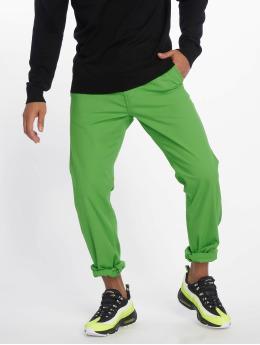 Urban Classics Látkové kalhoty Basic zelený