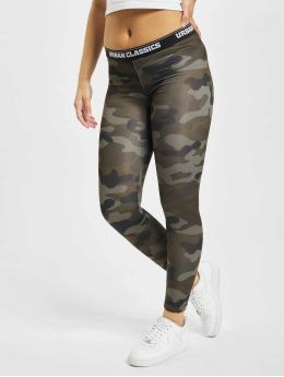 Urban Classics Frauen Legging Camo Logo in camouflage