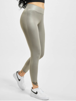 Urban Classics Legging Imitation Leather grau