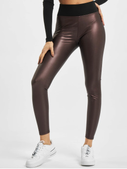 Urban Classics Legging Ladies Faux Leather High Waist rouge