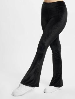 Urban Classics Legging Ladies High Waist Velvet Boot Cut  schwarz