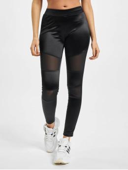Urban Classics Leggings/Treggings Ladies Shiny Tech Mesh black