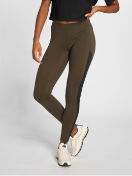Urban Classics Leggings/Treggings Jacquard Camo Striped oliven