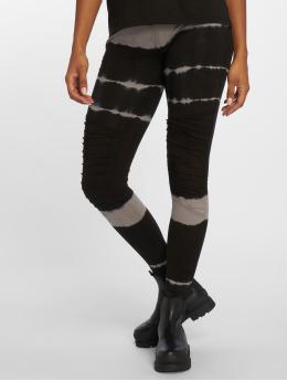 Urban Classics Leggingsit/Treggingsit Striped Tie Dye musta