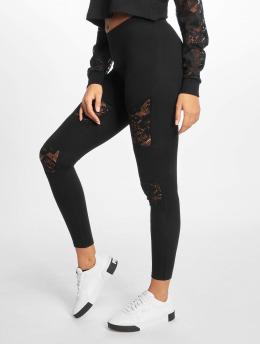 Urban Classics Leggingsit/Treggingsit Laces Inset musta
