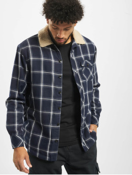 Urban Classics Lightweight Jacket Sherpa Lined blue